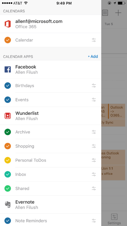 Outlook com novas integrações no iOS