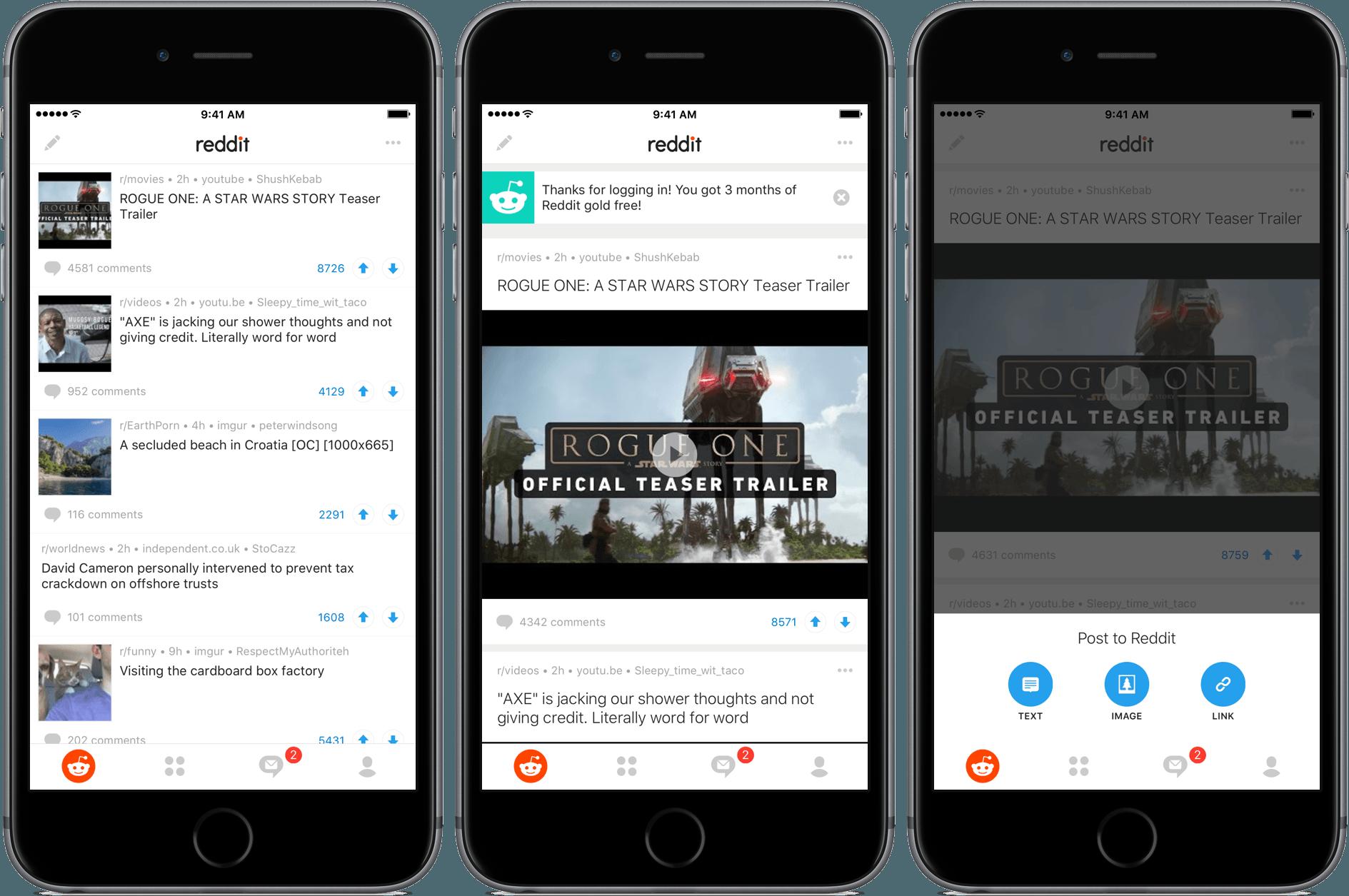 Reddit em iPhones