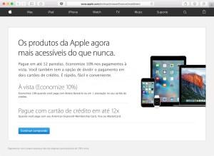 Parcelamento pela Apple Brasil