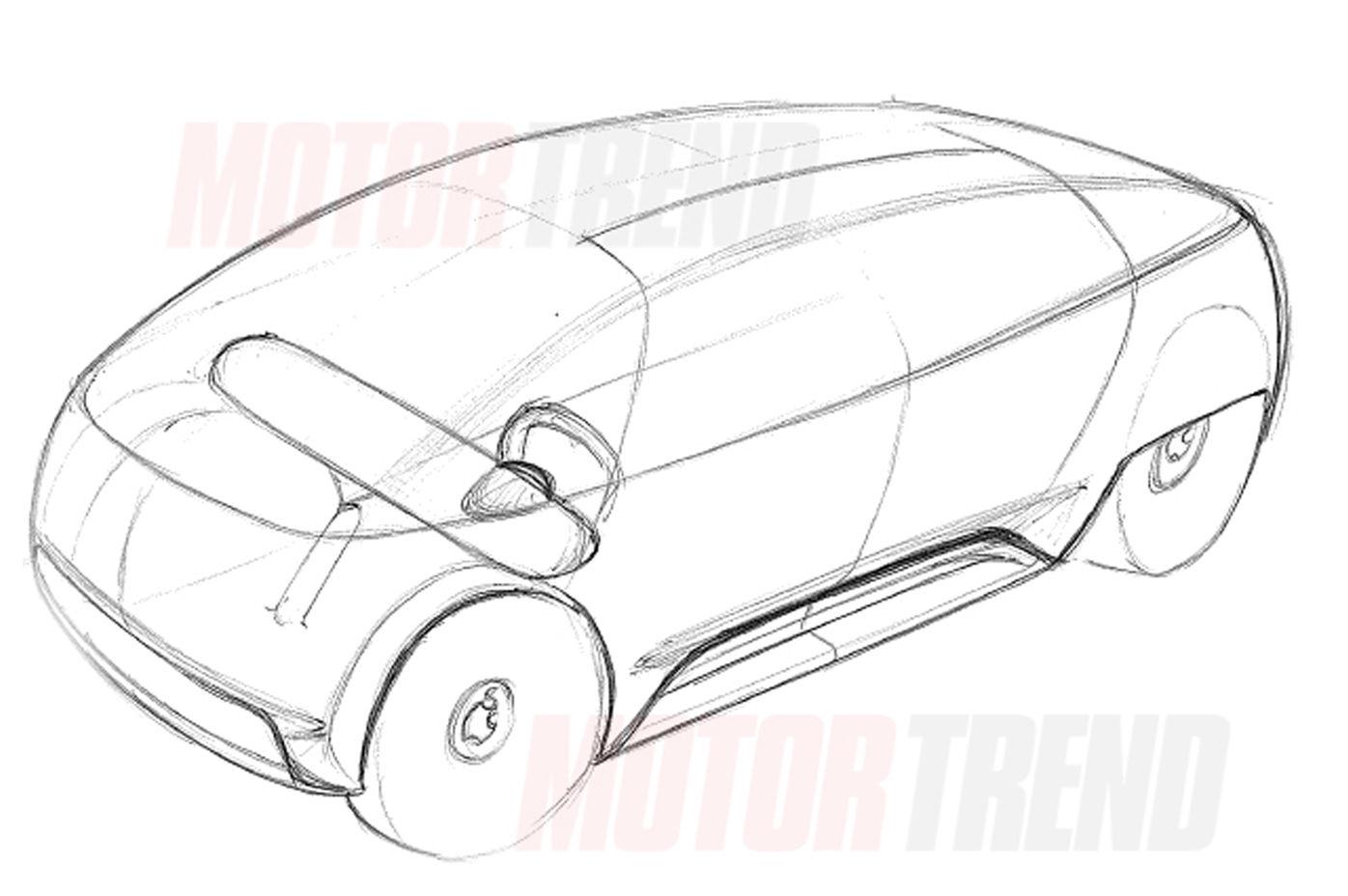 """Rascunho do design do """"Apple Car"""""""