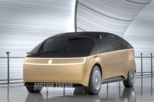 """Mockup/render 3D do """"Apple Car"""""""