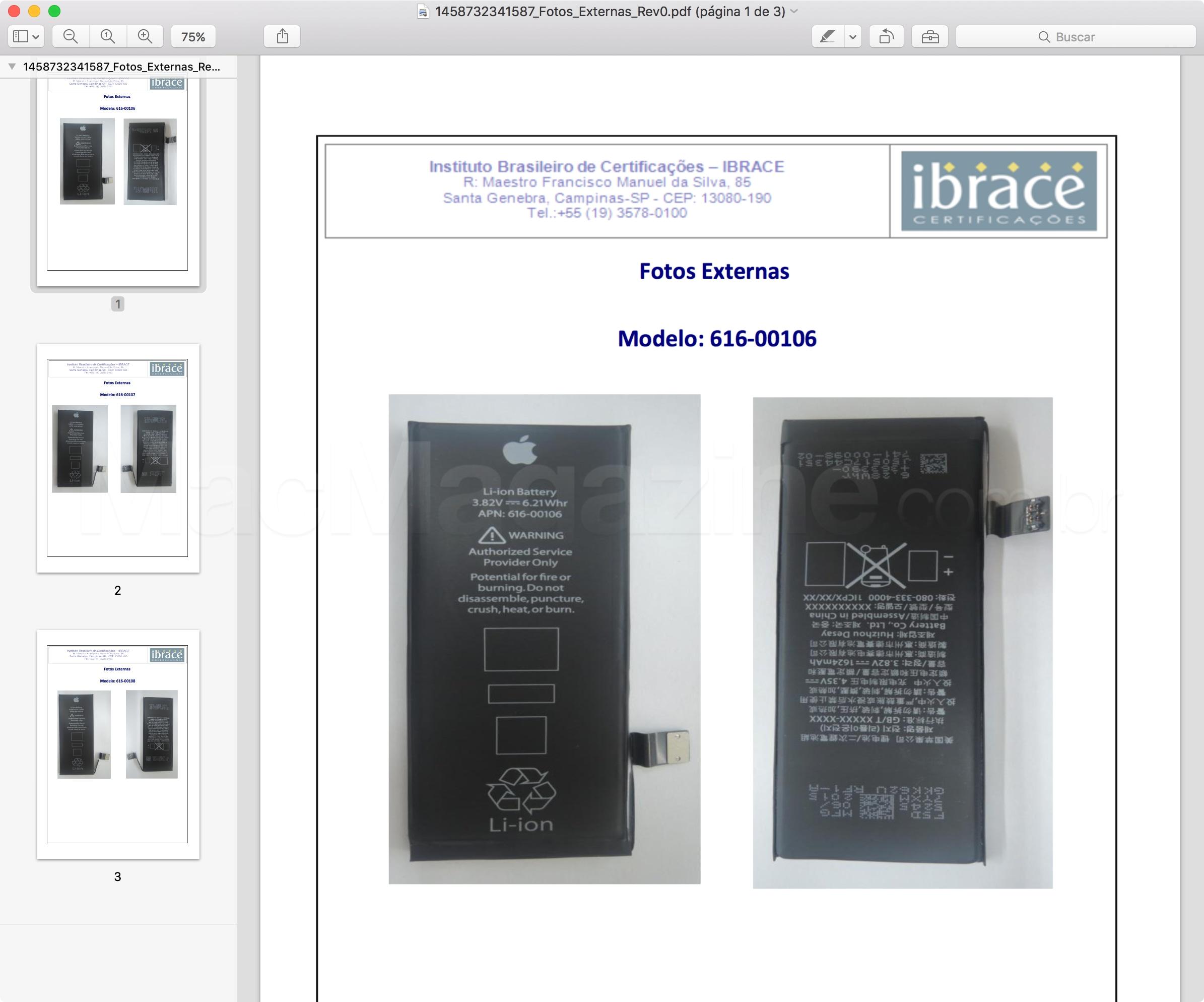 Anatel homologa baterias do iPhone SE
