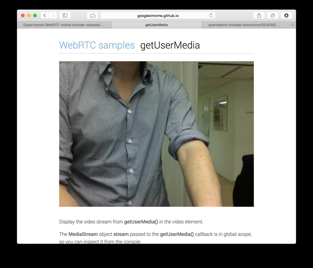 WebRTC no Safari
