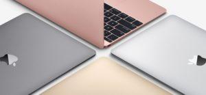 As quatro cores do MacBook com tela Retina de 12 polegadas