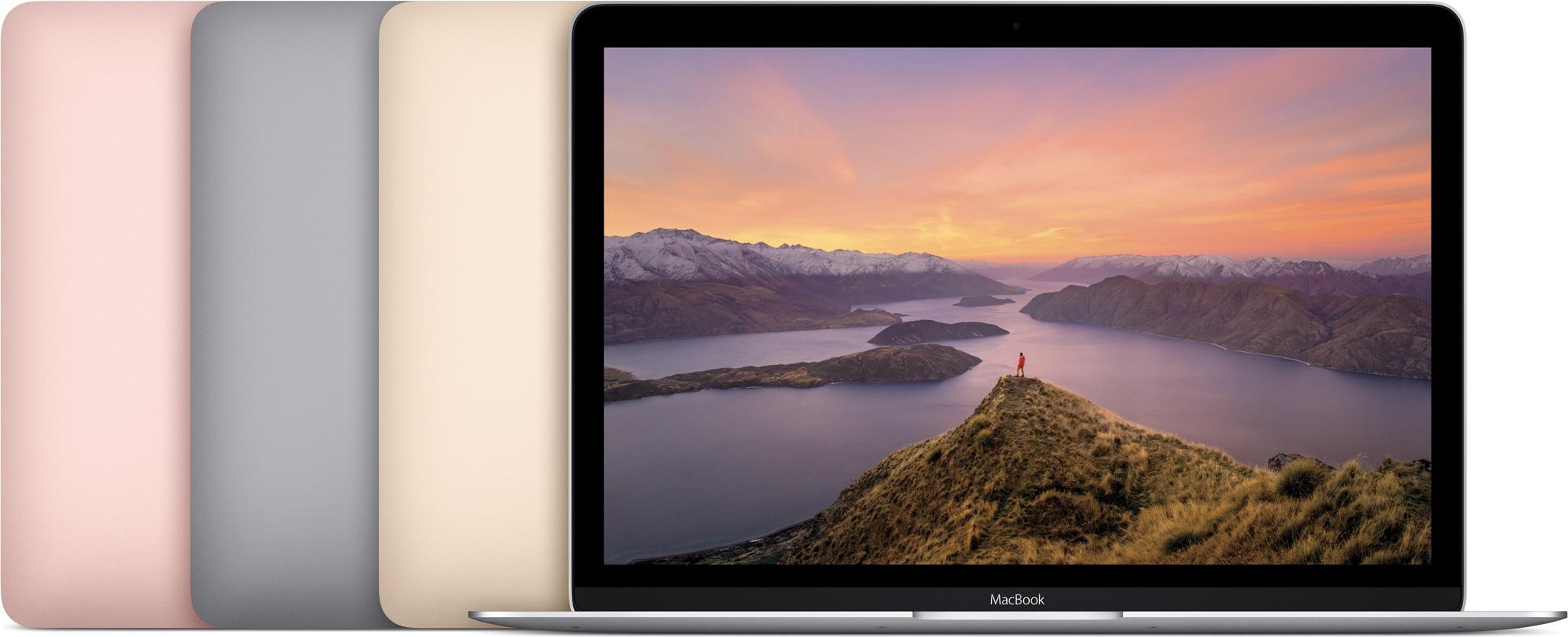 Novos MacBooks em todas as cores, de frente