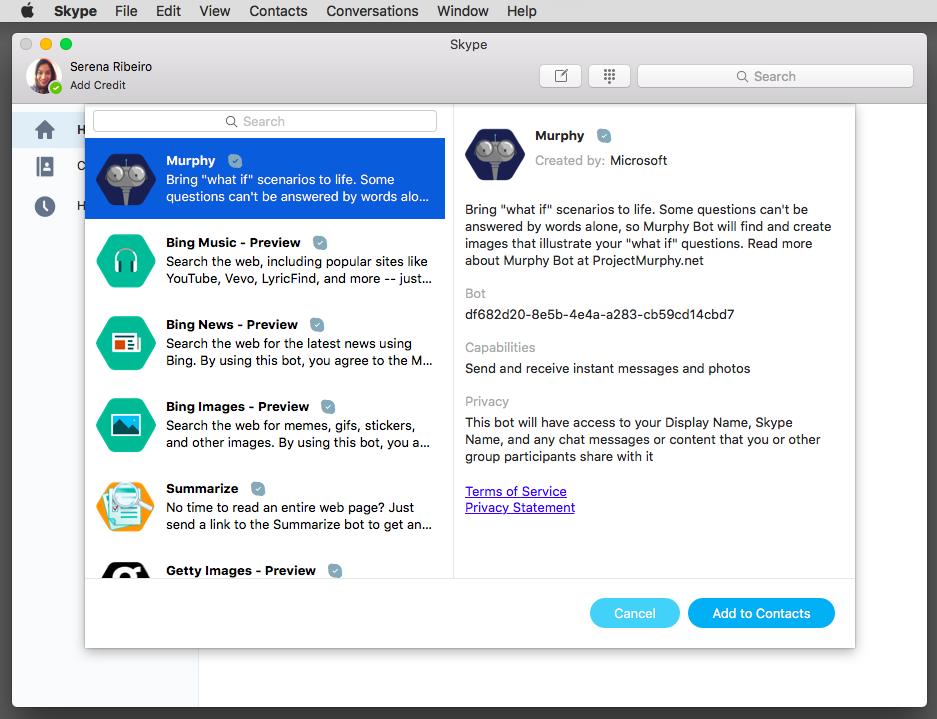 Skype Bots no Mac
