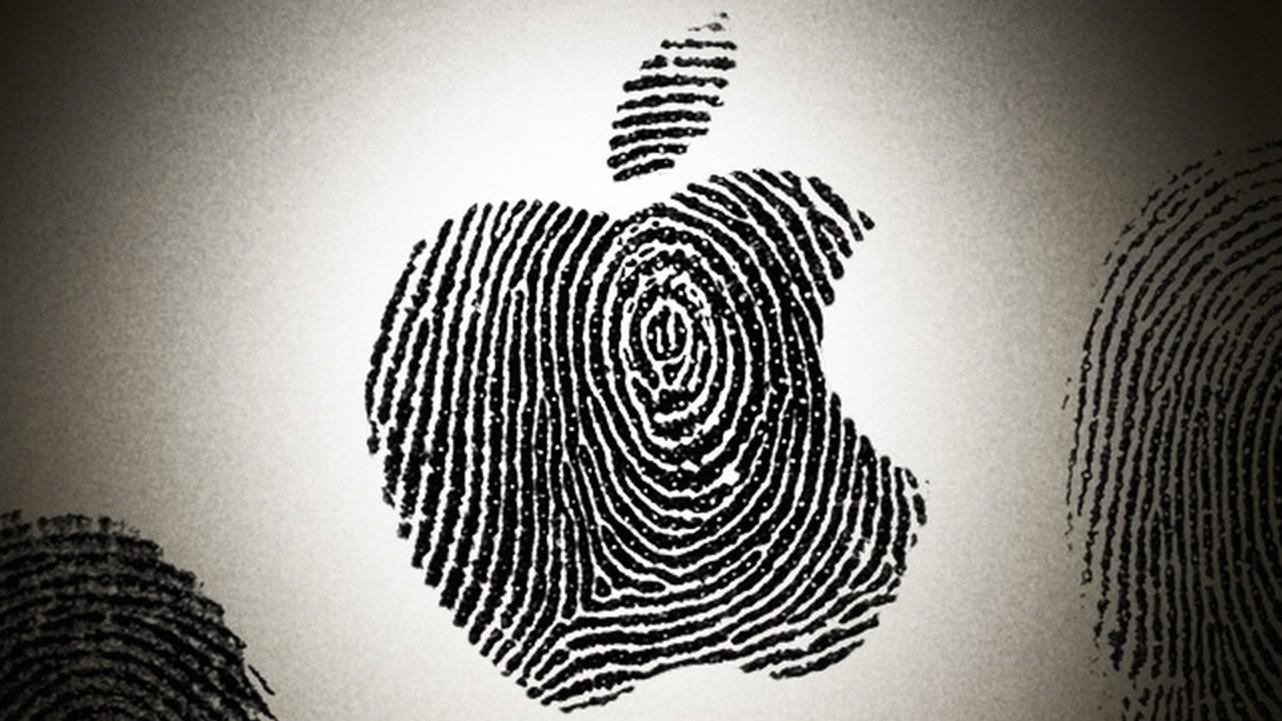 Logo da Apple como impressão digital
