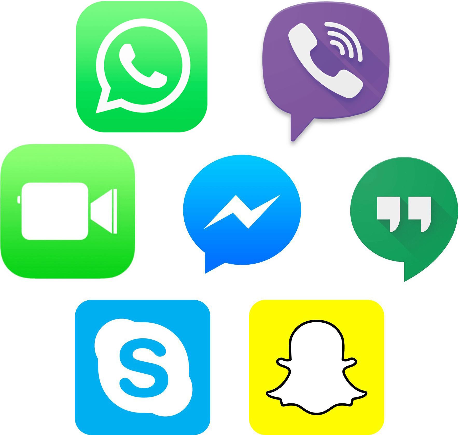 Ícones de apps de VoIP (audioconferência)