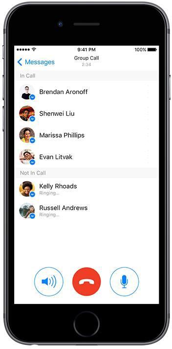 Ligações em grupo no Messenger