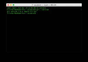 Versão do Git no OS X