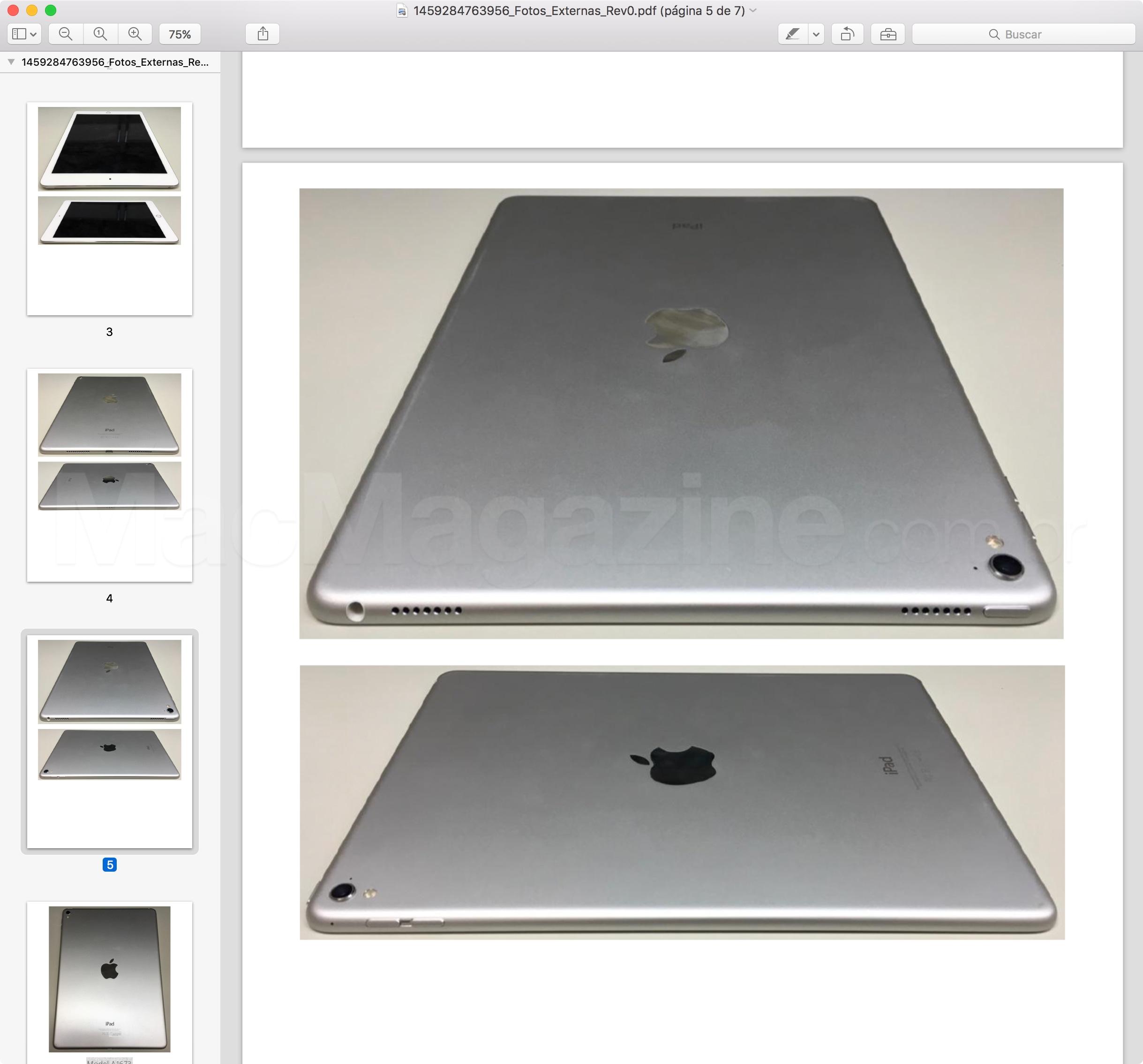 Anatel homologa iPad Pro de 9,7 polegadas Wi-Fi (A1673)