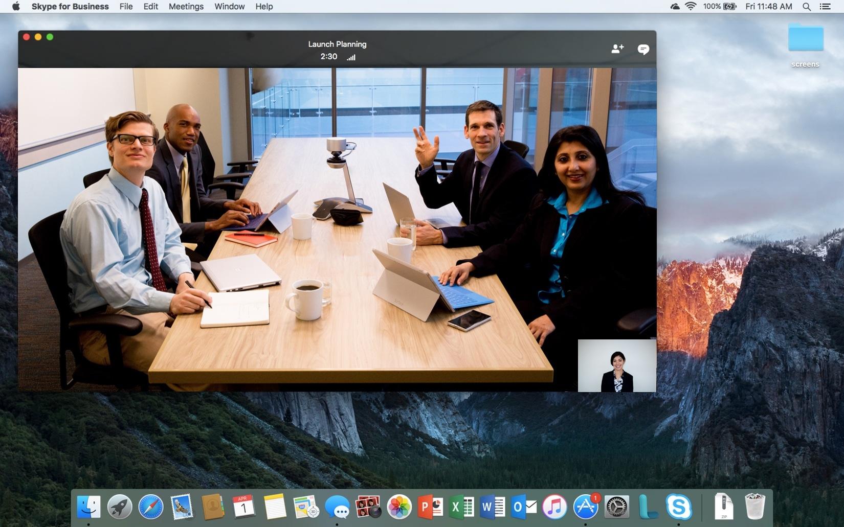 Skype for Business para Mac