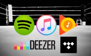 Apps/serviços de streaming de música