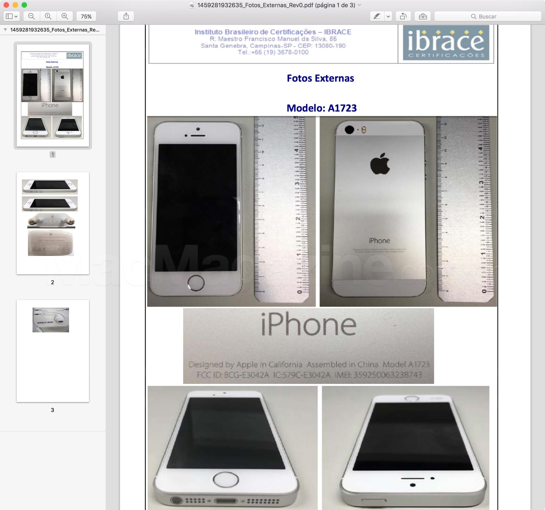 Anatel homologa o iPhone SE