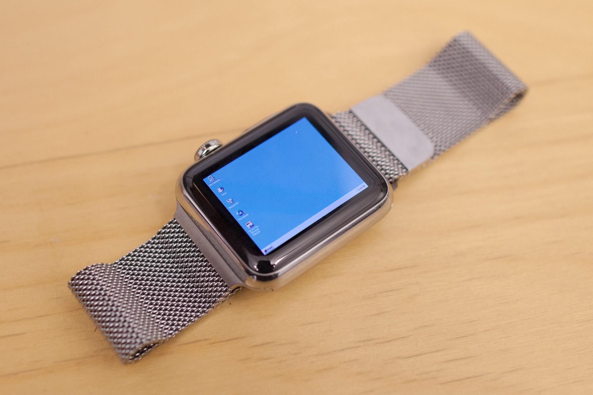 Windows 95 num Apple Watch