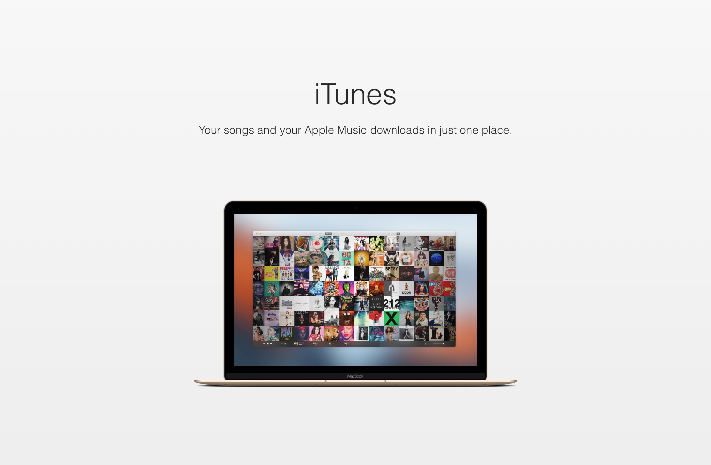 Mockup de um novo iTunes