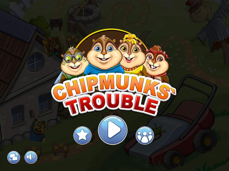 Chipmunks' Trouble jogo puzzle