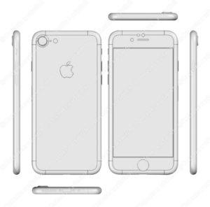 """Suposto desenho 3D do """"iPhone 7"""""""