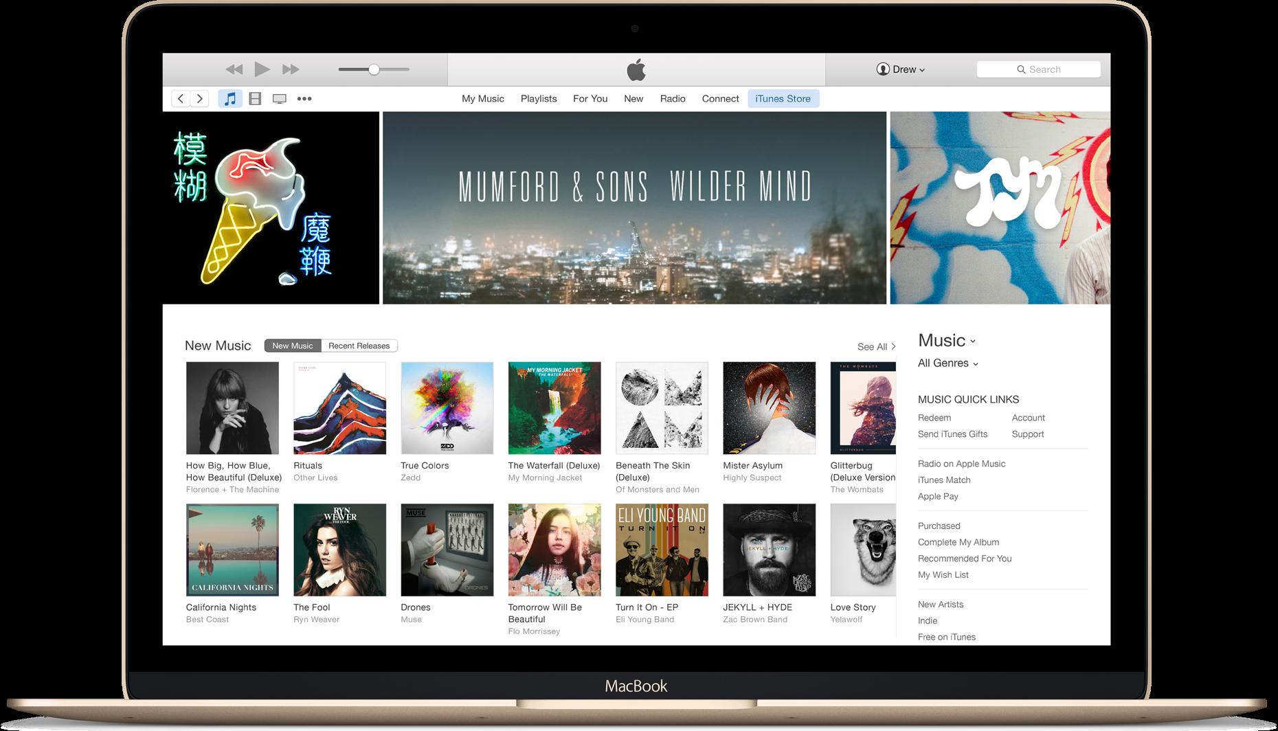 iTunes num MacBook