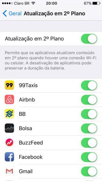 Atualização em 2º plano no iOS 9