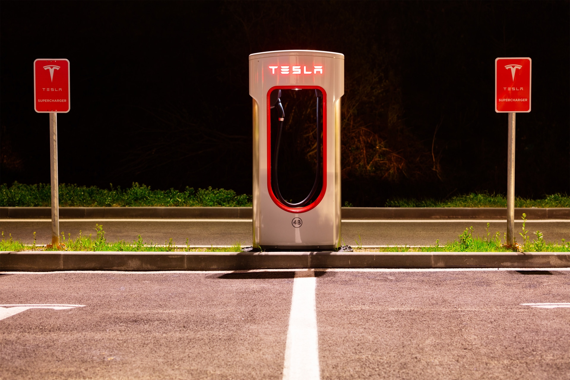 Estação de recarga da Tesla