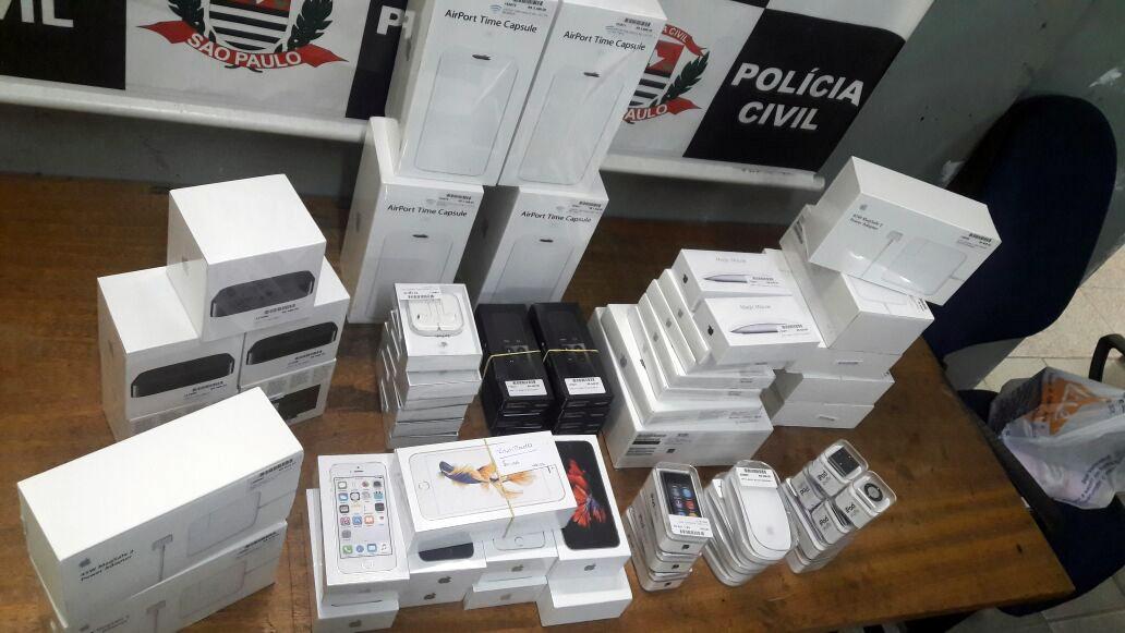 Produtos roubados recuperados pela Polícia Civil