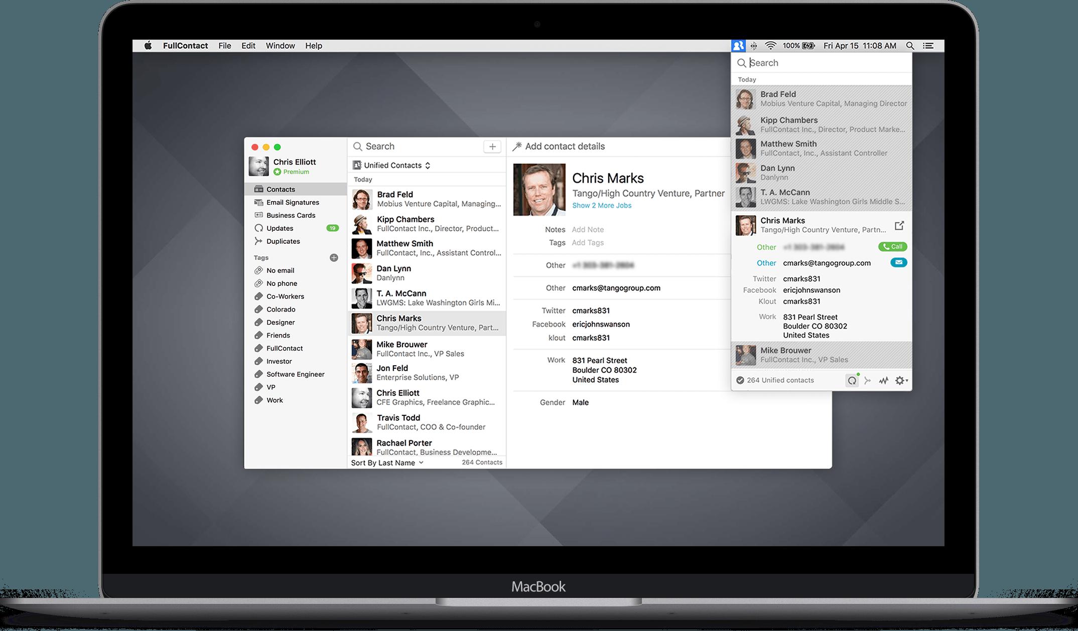 App FullContact para OS X