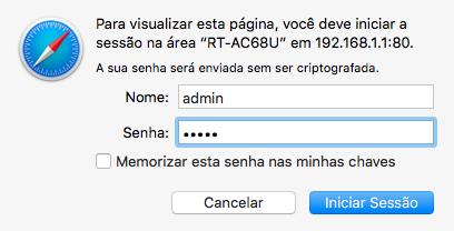 Configuração inicial do roteador ASUS