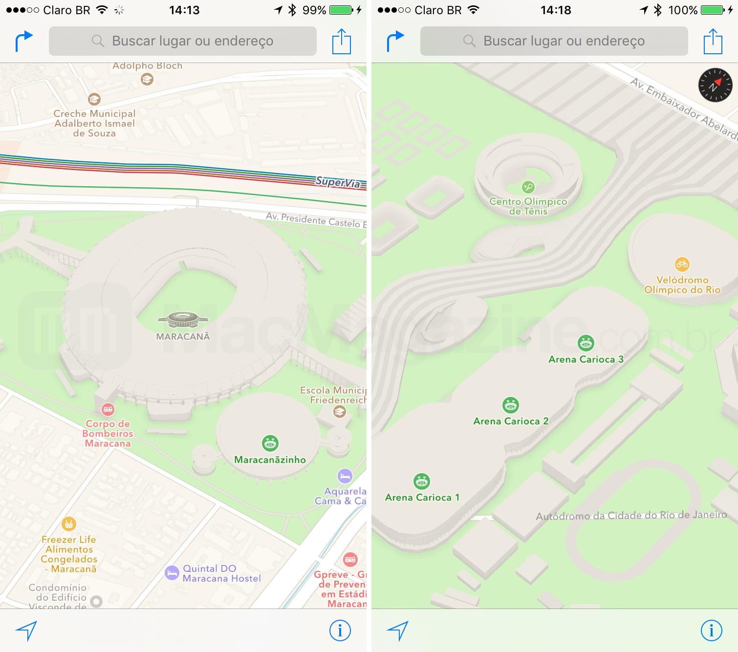 Mapas 3D na Apple no Rio de Janeiro
