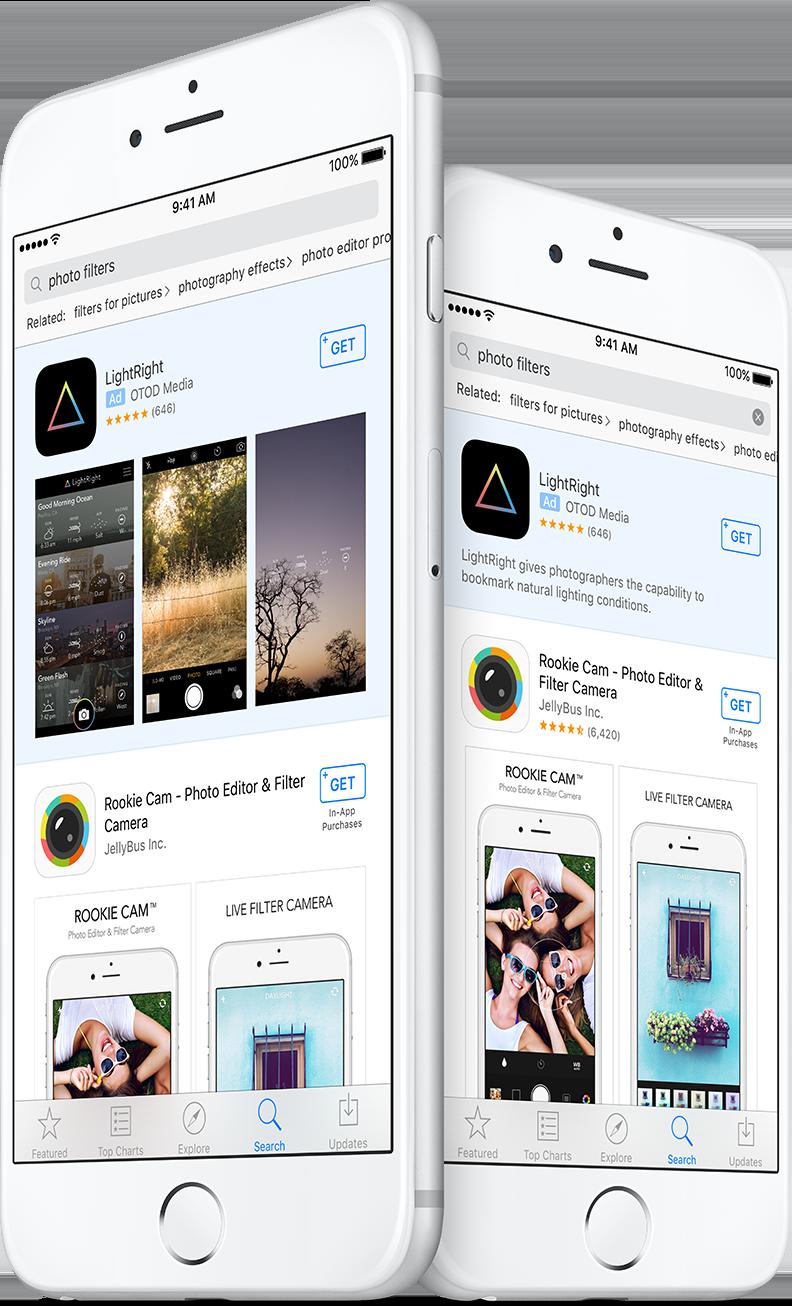 Anúncios em buscas da App Store