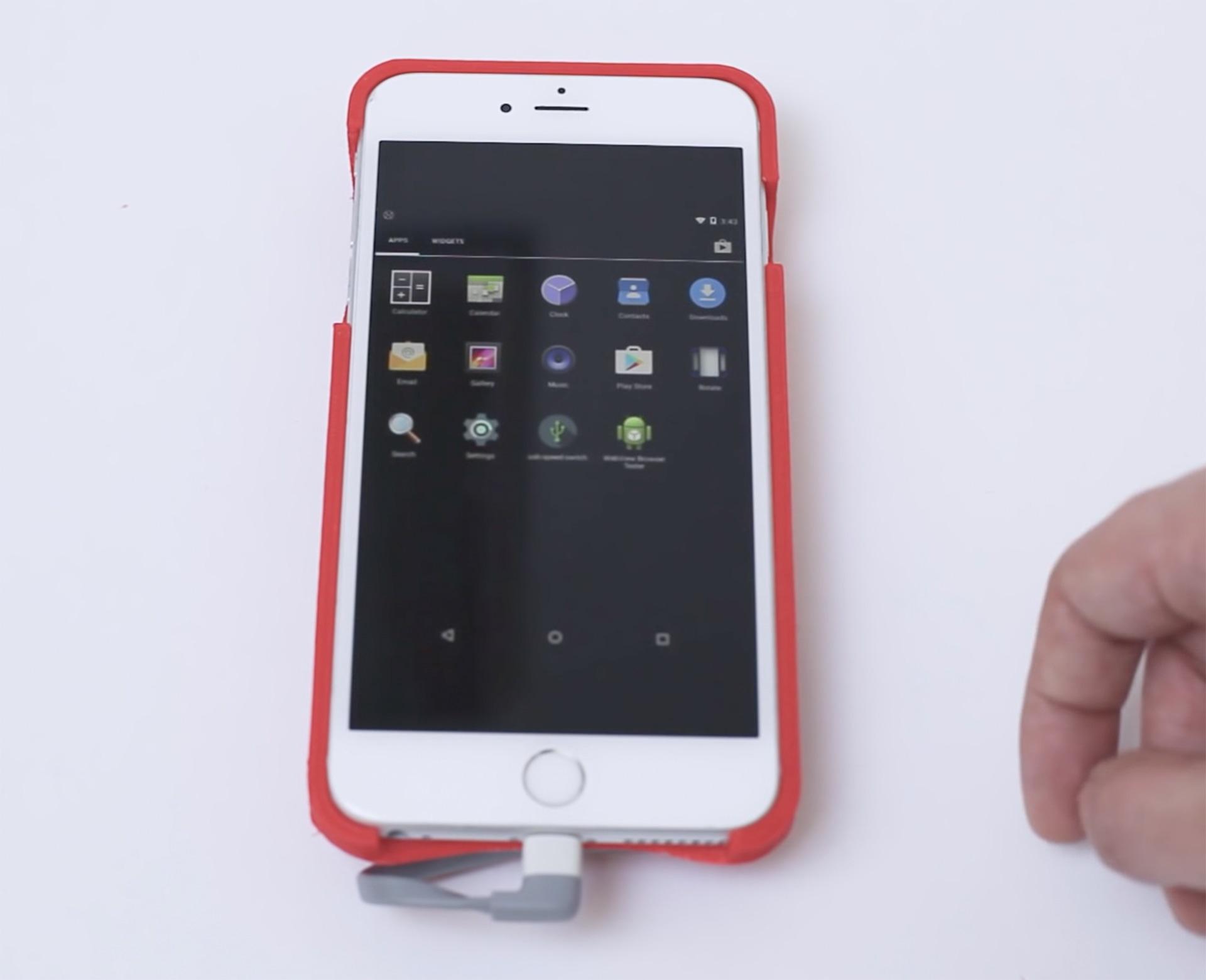iPhone rodando Android