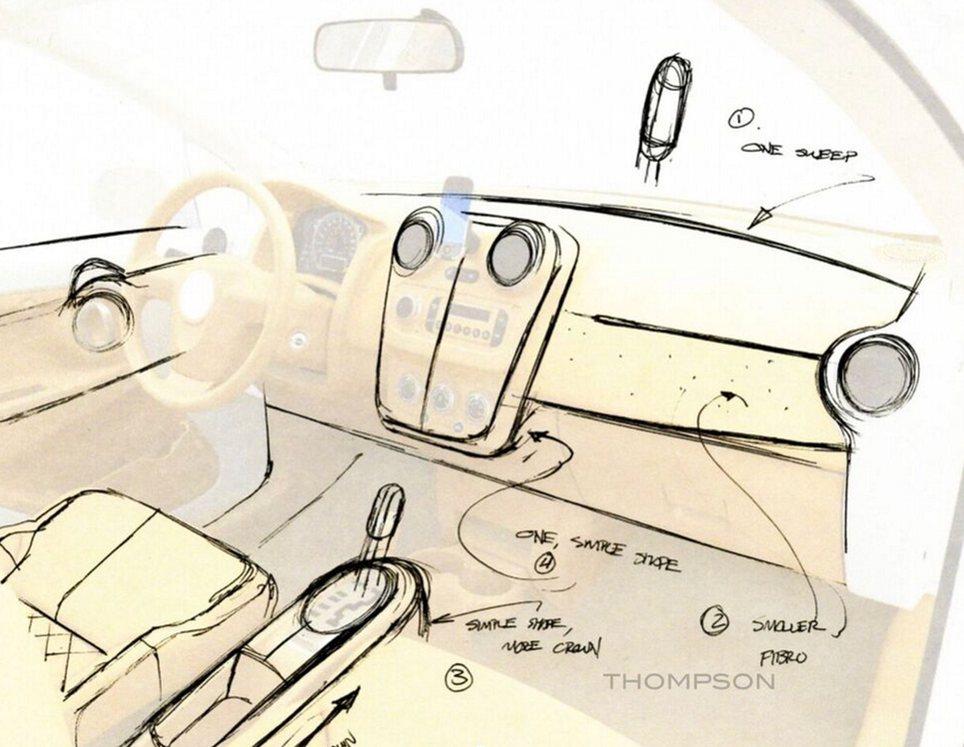 Desenho do interior do V-Vehicle