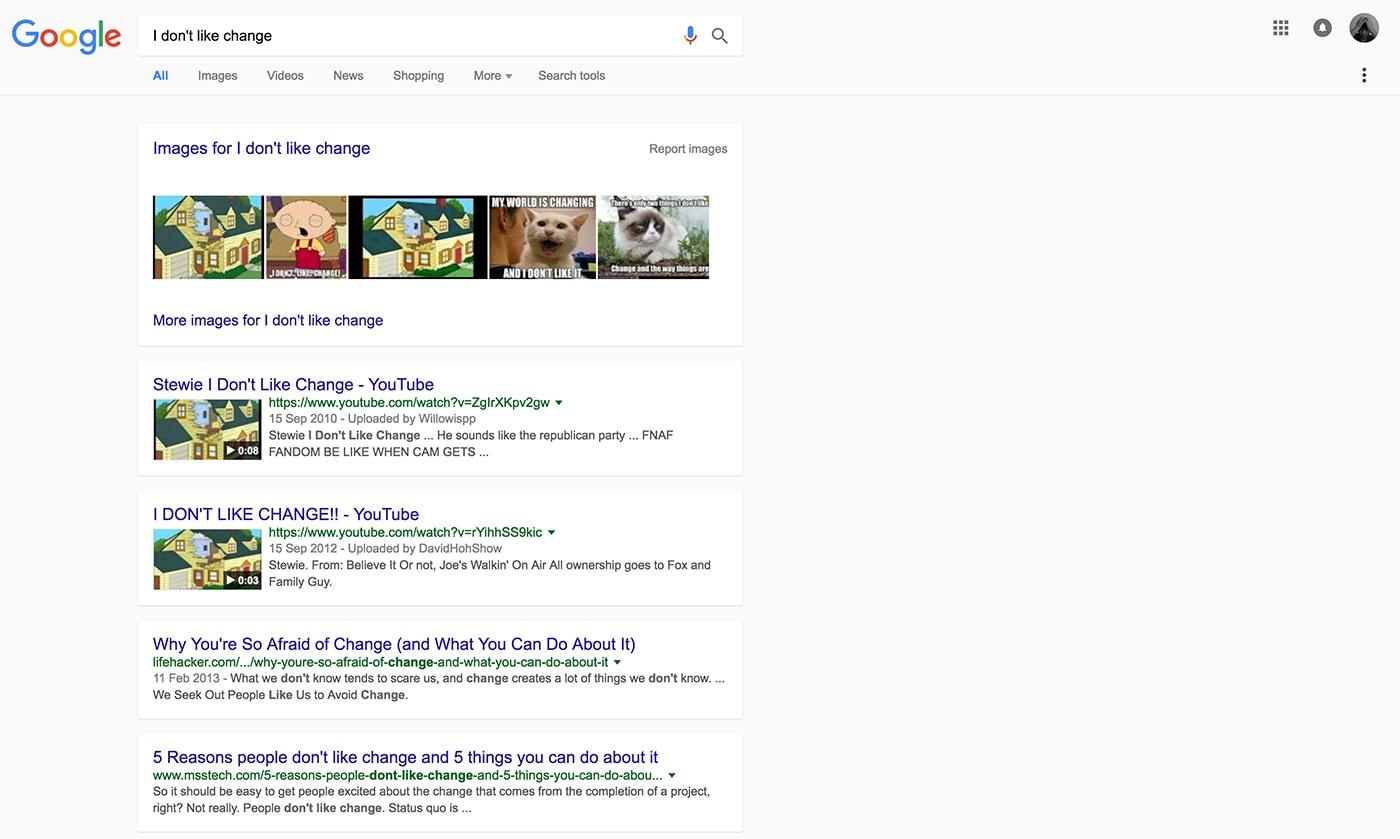 Busca do Google com Material Design