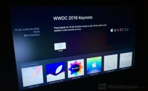 Canal da WWDC 2016 na Apple TV
