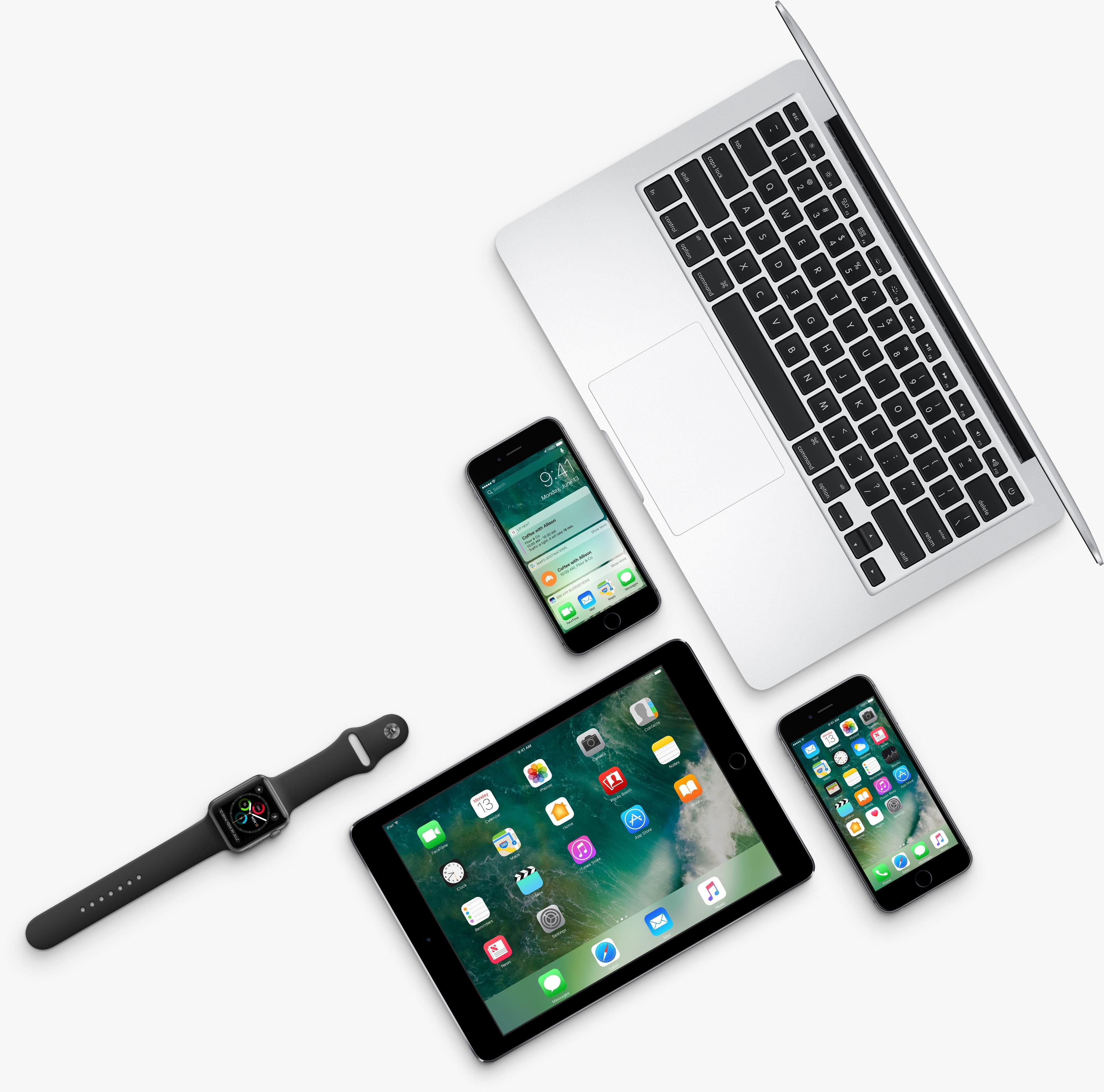 iPhones, iPad, Apple Watch e MacBook