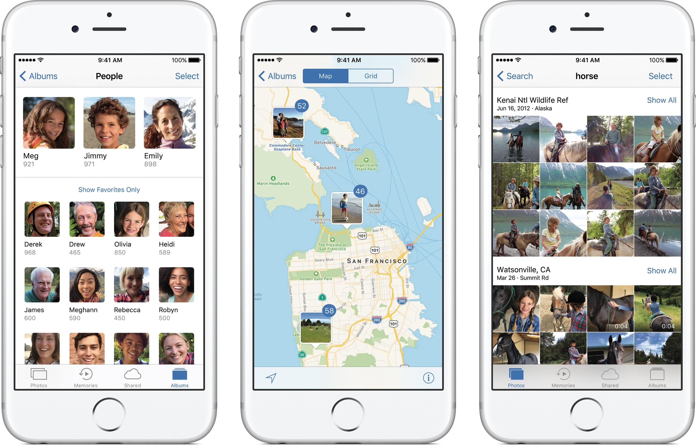 Fotos do iOS 10 em iPhones
