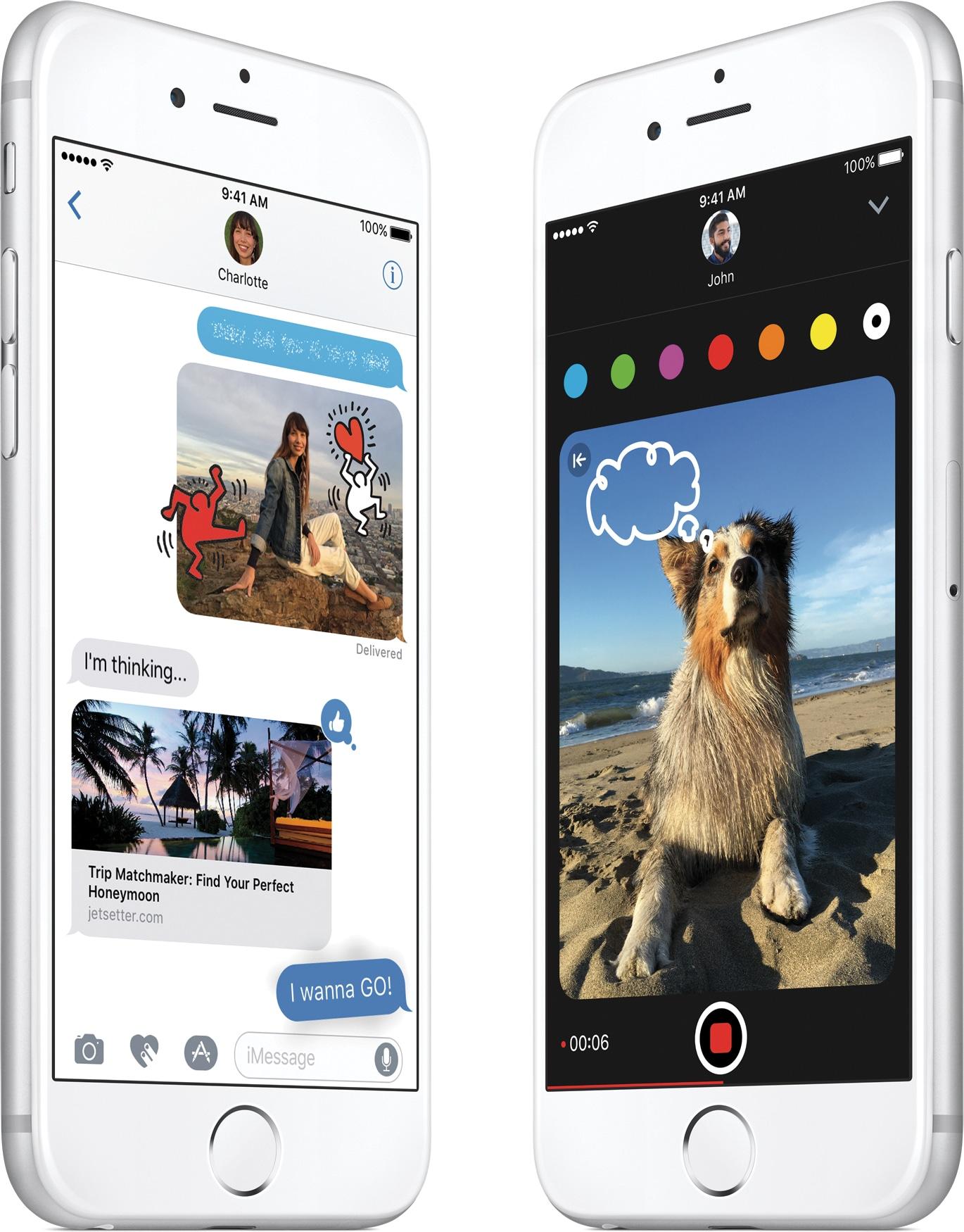Mensagens do iOS 10 em iPhones