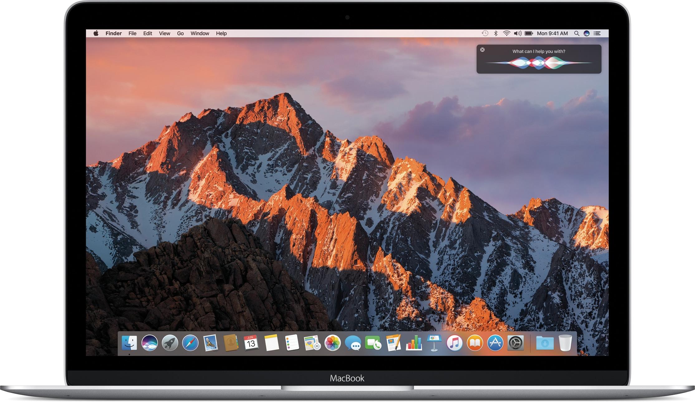 Siri rodando no macOS Sierra num MacBook