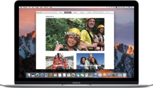 Fotos do macOS Sierra num MacBook