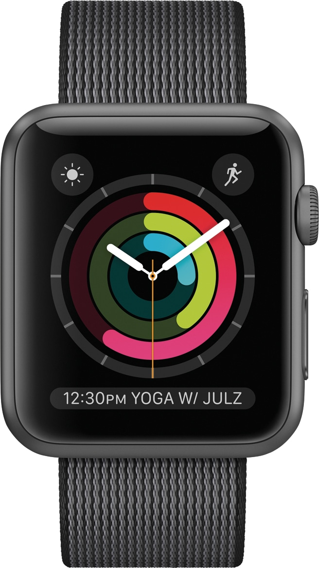 Mostrador Atividade do watchOS 3 rodando num Apple Watch