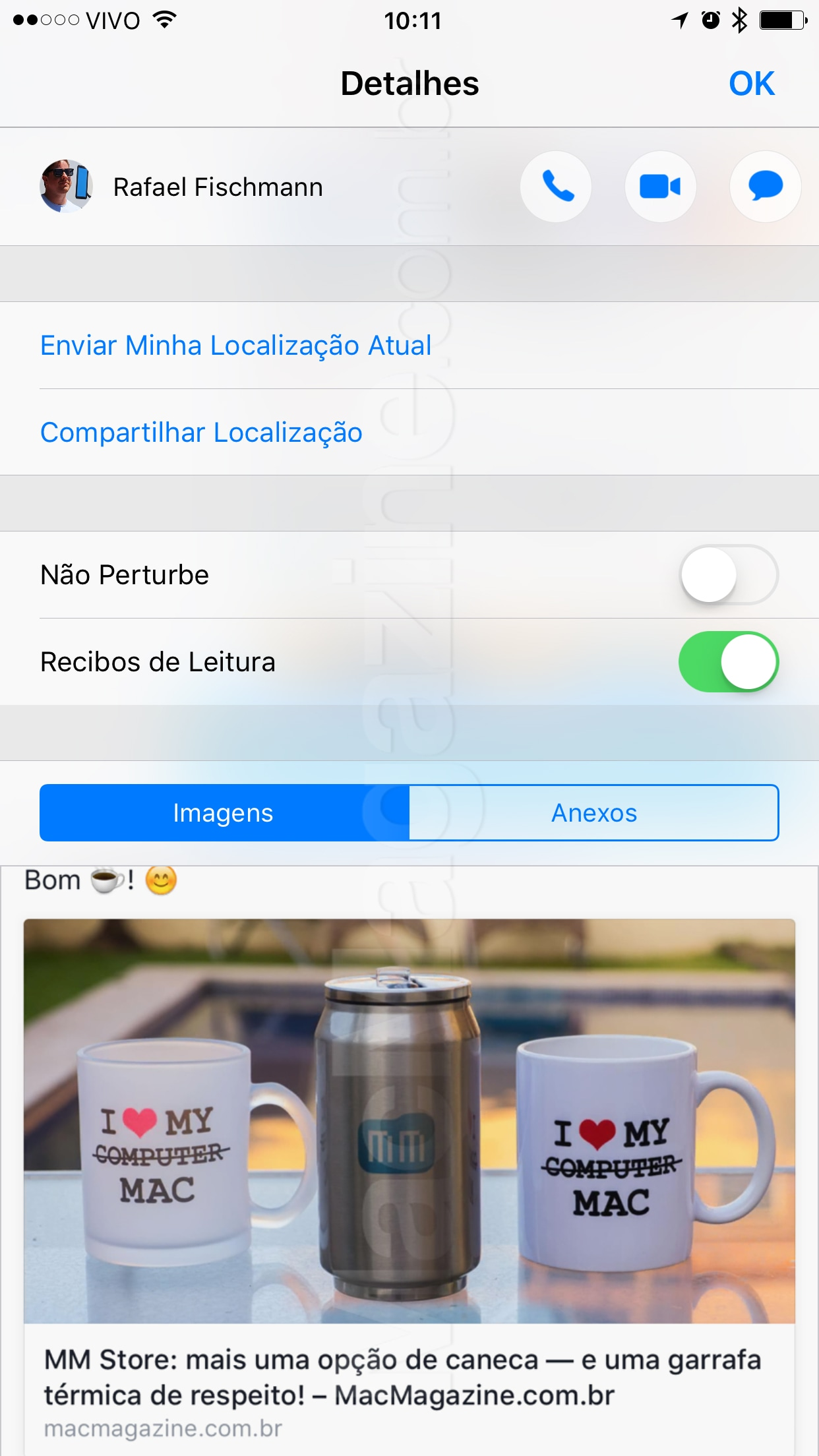 Screenshot do iOS 10 beta