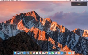 Screenshot do macOS Sierra beta