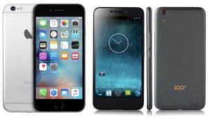 100C e iphone 6 comparação