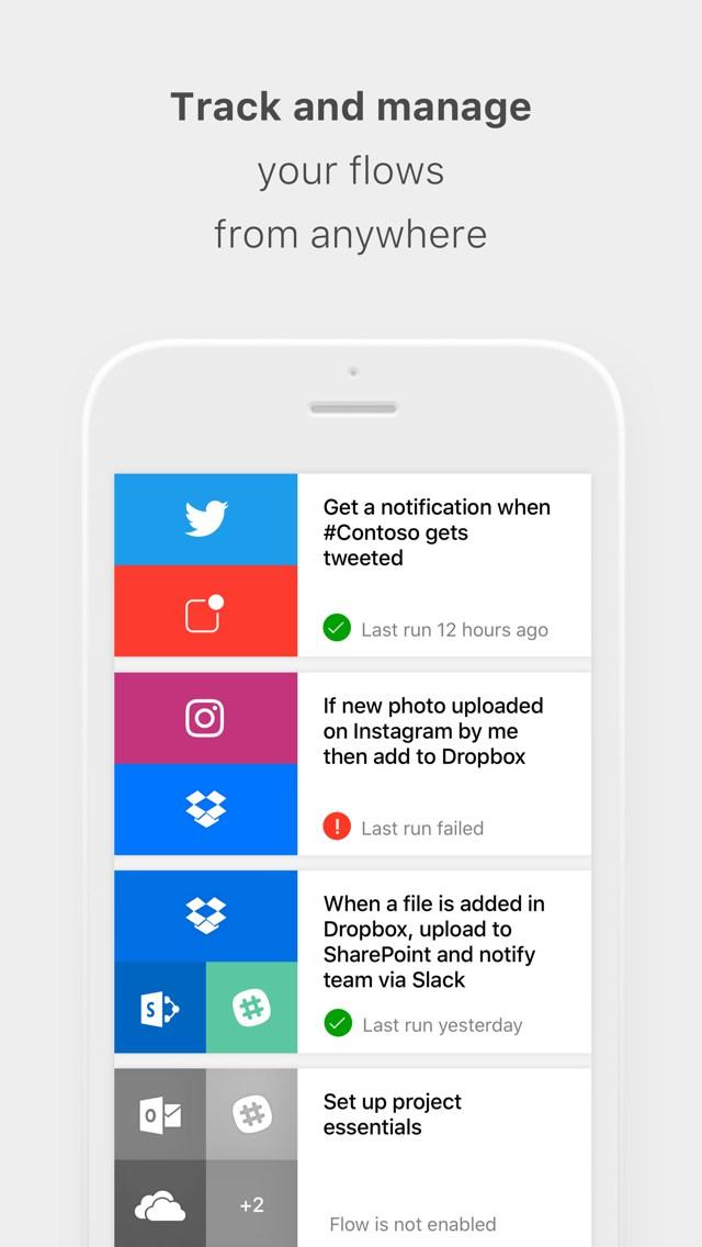 Microsoft Flow para iOS