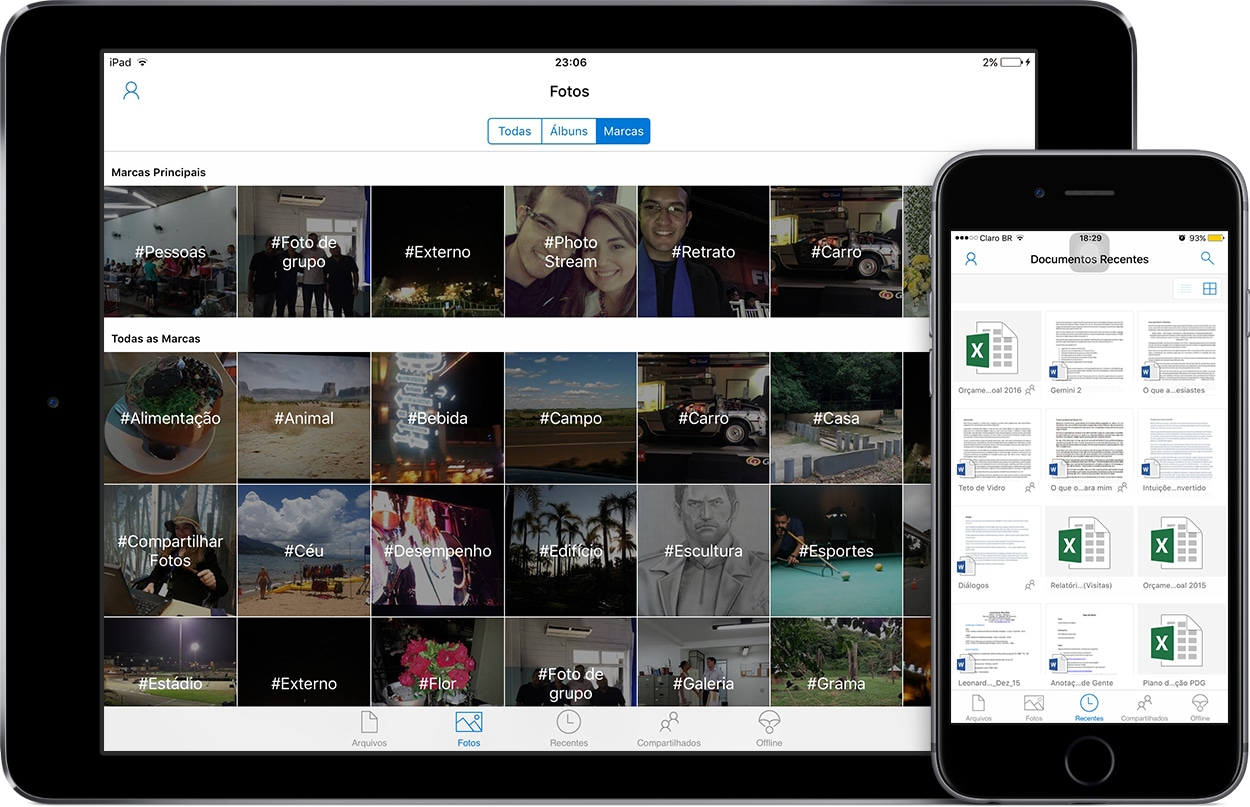 Microsoft OneDrive no iPad e no iPhone