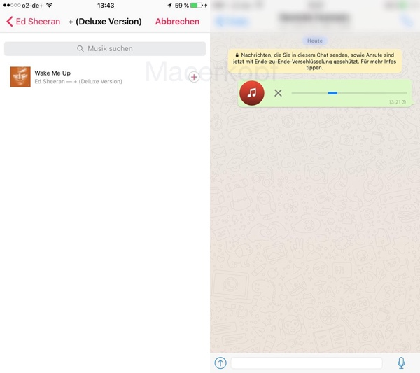Futuro recurso de enviar músicas pelo WhatsApp