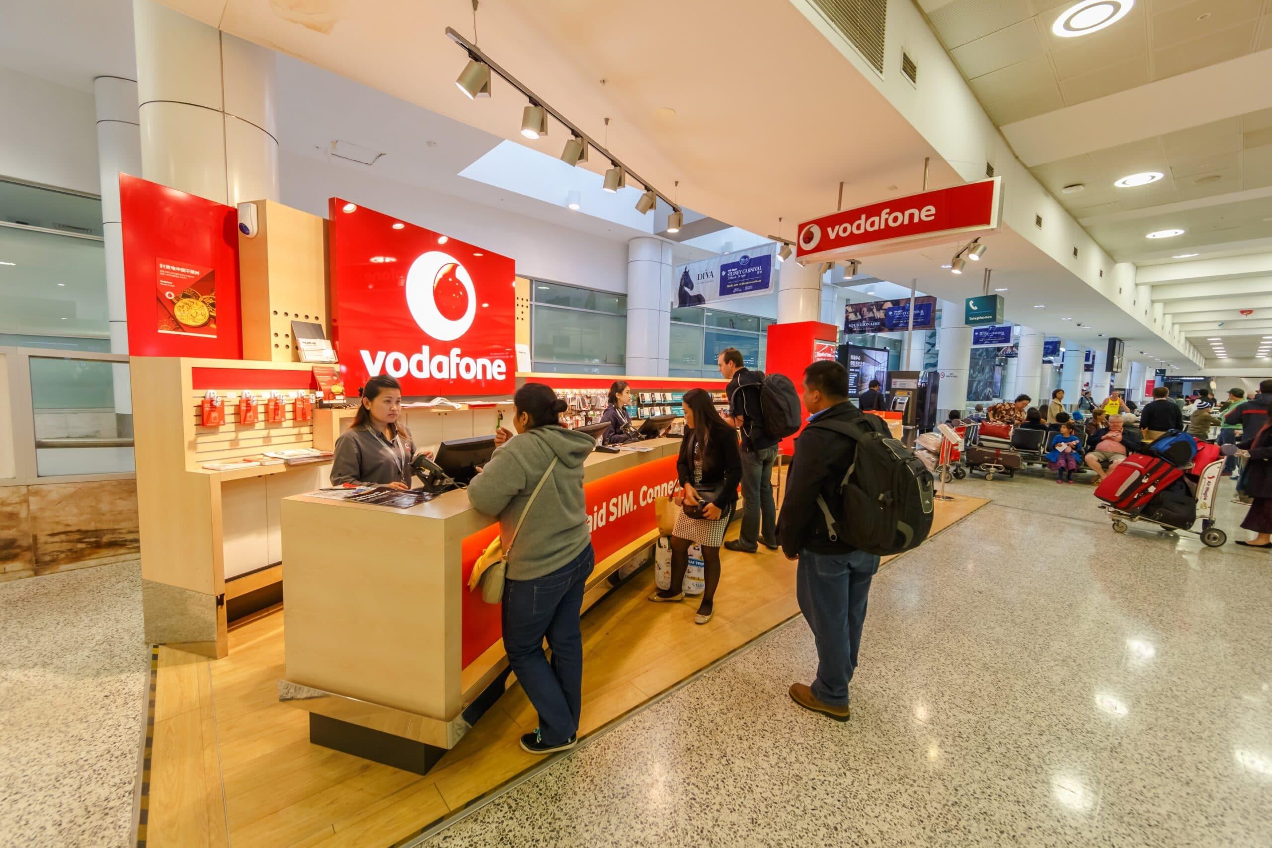 Loja da Vodafone no aeroporto de Sydney