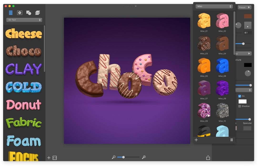 Screenshot do app Art Text