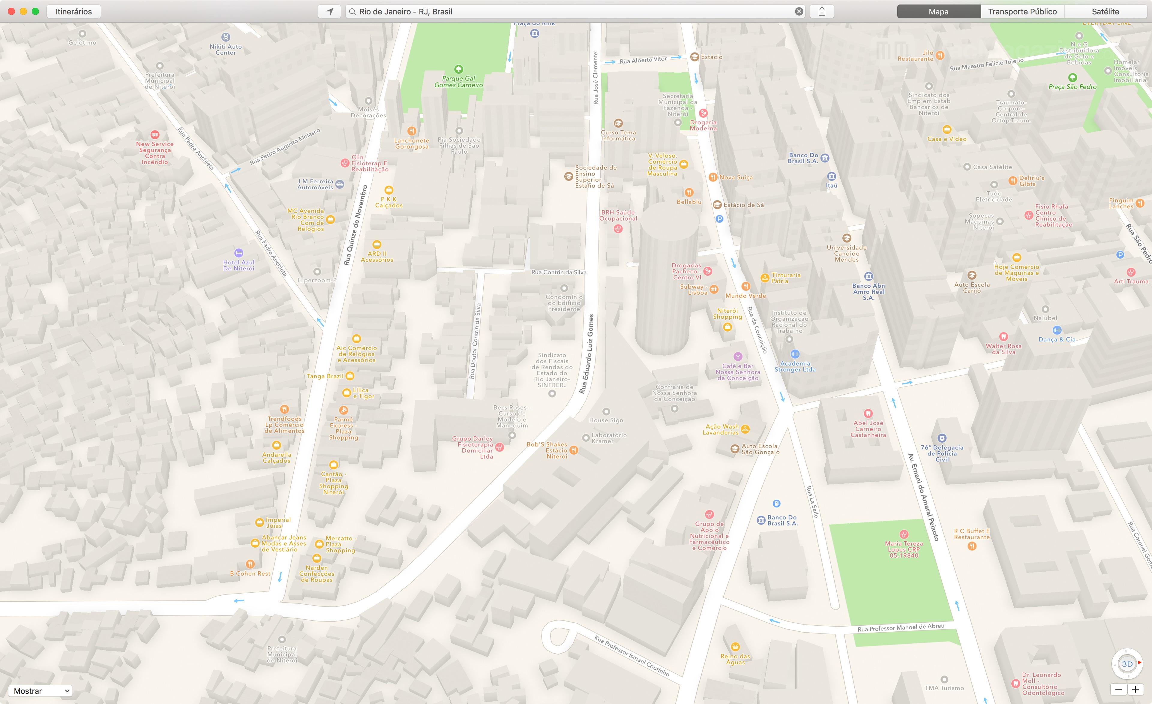 Mapas de Niterói em 3D