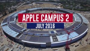 Sobrevoada pelo Apple Campus 2